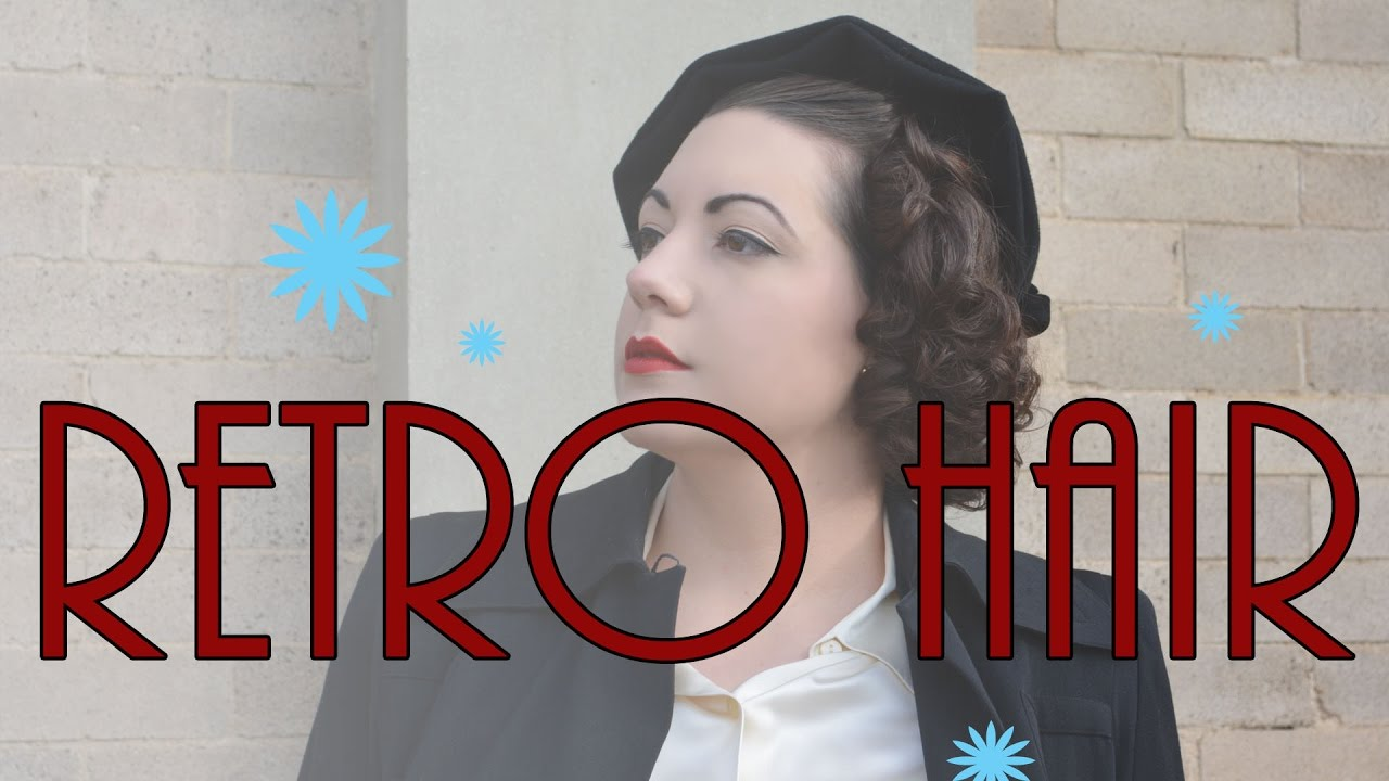 Retro Hair Tutorial Basic Retro Curls On Bobbed Hair Youtube