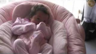 Baby in a bouncer