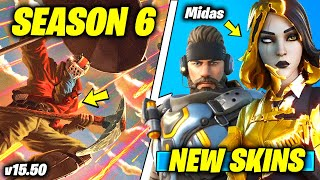 Fortnite v15.50 Update - SEASON 6 EVENT LEAKS, Female Midas, NEW SKINS & EMOTES IN-GAME