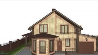 видео Проекты домов с эркером и мансардой, гаражом, фото