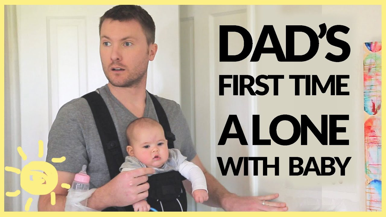 Funny Babysitting Meme : Dad left alone with baby funny ad youtube
