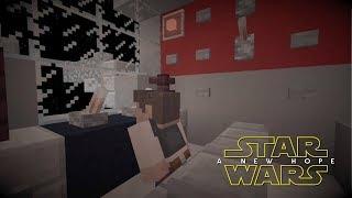Minecraft StarWars: Tie Fighter Attack Scene Recreation