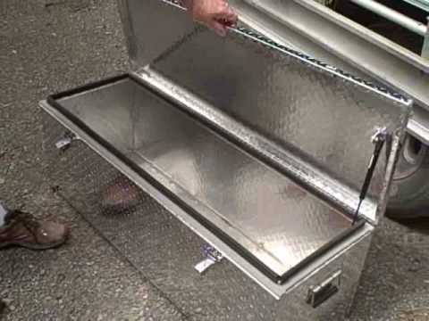 Camper Trailer Large Aluminium Tool Box 1200mm X 400mm X