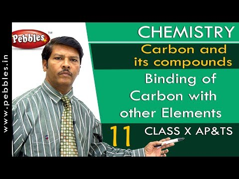 Binding of Carbon with other Elements : Carbon and its compounds | Chemistry | Science |  Class 10