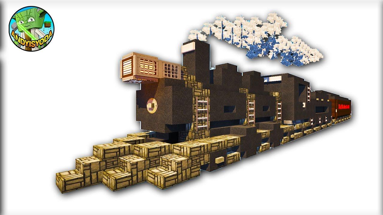 Minecraft Creative Tips Tricks: Build A Steam Train In Minecraft