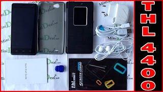 Телефон - Смартфон thl ultrathin 4400 mtk6582 black видео обзор.