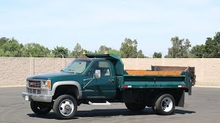 1998 GMC C3500HD 4x4 3-4 Yard Dump Truck