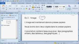 Le Presse-papiers - Copier et coller des objets textes, images, graphiques,tableaux thumbnail