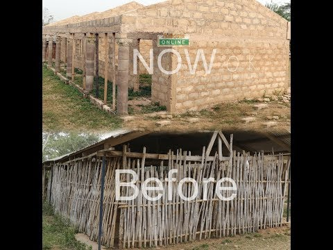 Adomonline.com gets results; 3-unit school block built  for pupils who sit on stones to learn.
