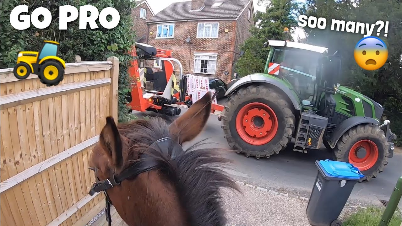 we met 5 tractors on our first ride alone + update | GO PRO | equinemollie