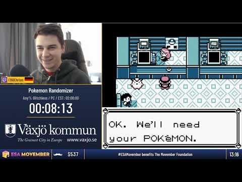#ESAMovember Speedruns - Pokemon Randomizer [Any% Glitchless] by 360Chrism