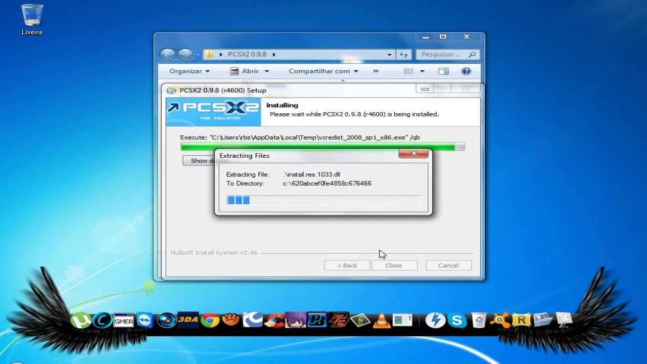 DE PARA EMULADOR PCSX2 BIOS 0.9.8 PS2 BAIXAR