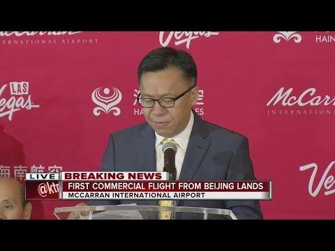 McCarran celebrates first flight from Beijing