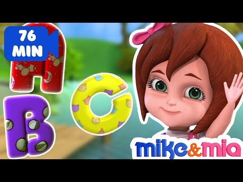 Thumbnail: ABC Songs for Children | ABCD Alphabet Song | Nursery Rhymes & Kids Songs Collection by Mike and Mia