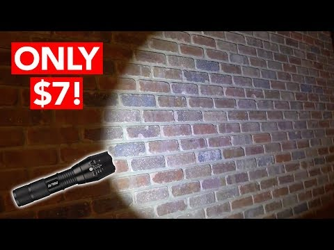Best LED Tactical Rechargeable Flashlight (ONLY $7!)