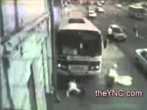 Shocking Video of a Bus Killing 2 Pedestrians