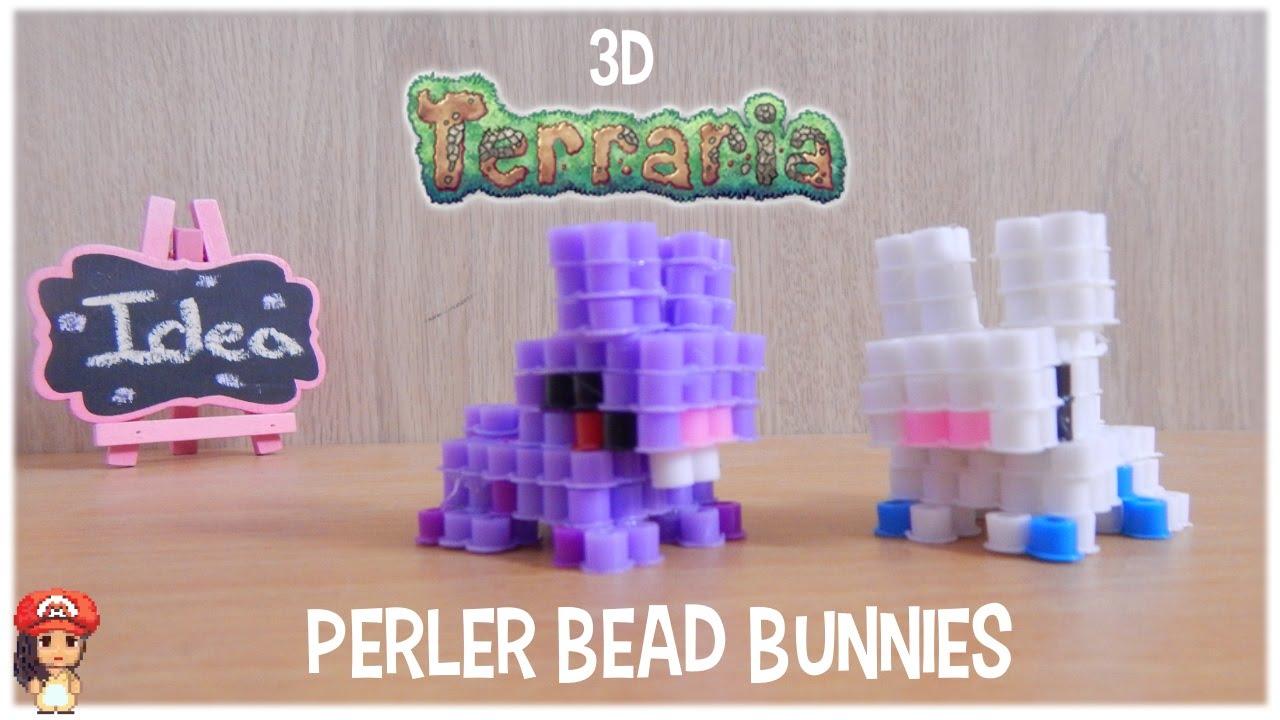 3d perler bead tutorial bunny terraria ideas inpiration youtube
