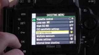 Live View Tripod Mode with Nikon DSLRs