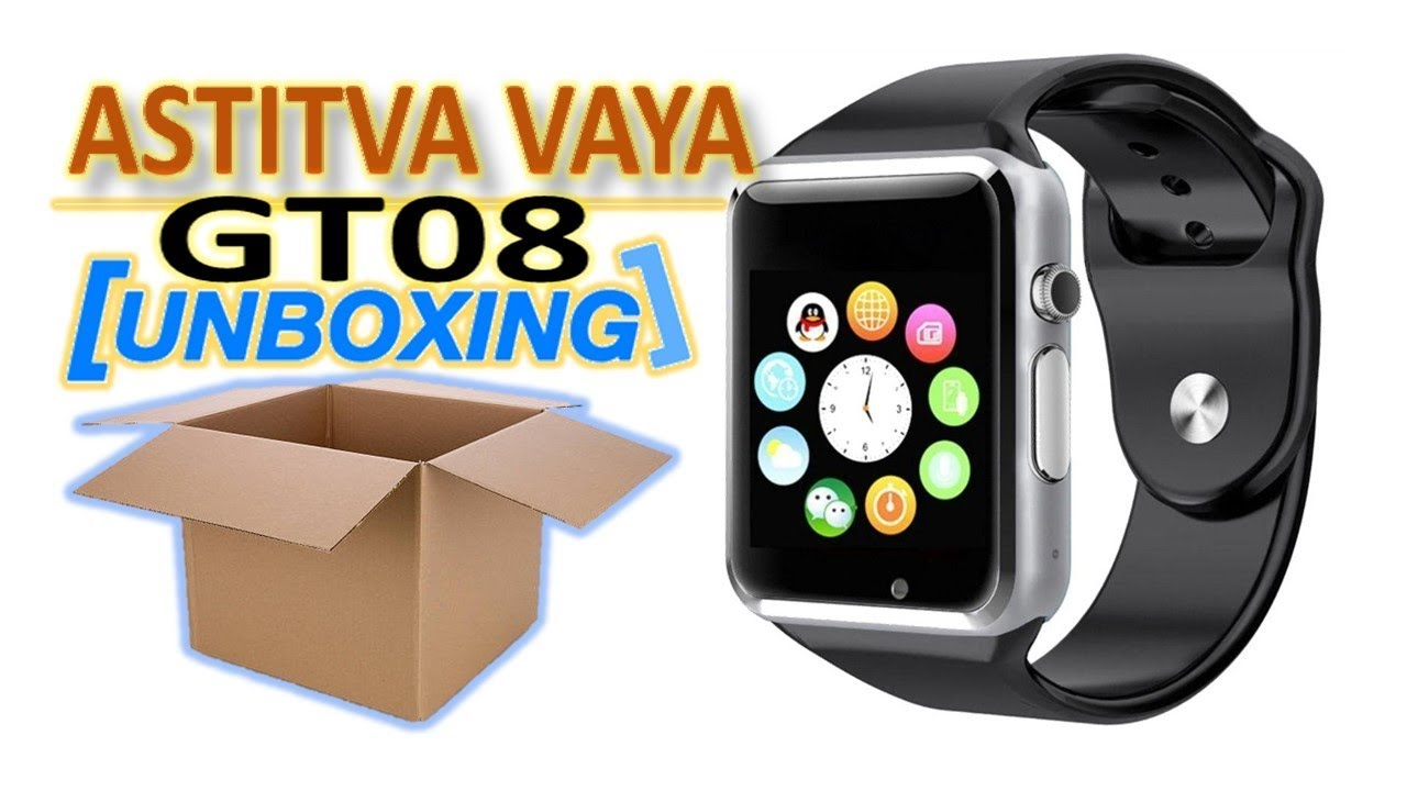 9a93a55af0e Unboxing of GT08 smartwatch in Hindi! - YouTube