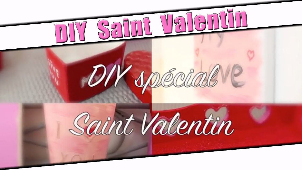 diy saint valentin id es d co et ou cadeaux pour la saint valentin youtube. Black Bedroom Furniture Sets. Home Design Ideas