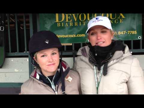 Silva Martin and Caitlin Silliman at Rolex