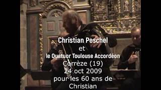 Christian PESCHEL et le Quatuor Toulouse Accordéon Corrèze 24 oct 2009