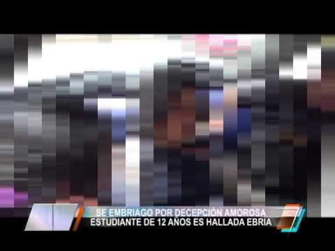 ESTUDIANTE DE 12 AÑOS ES HALLADA EBRIA