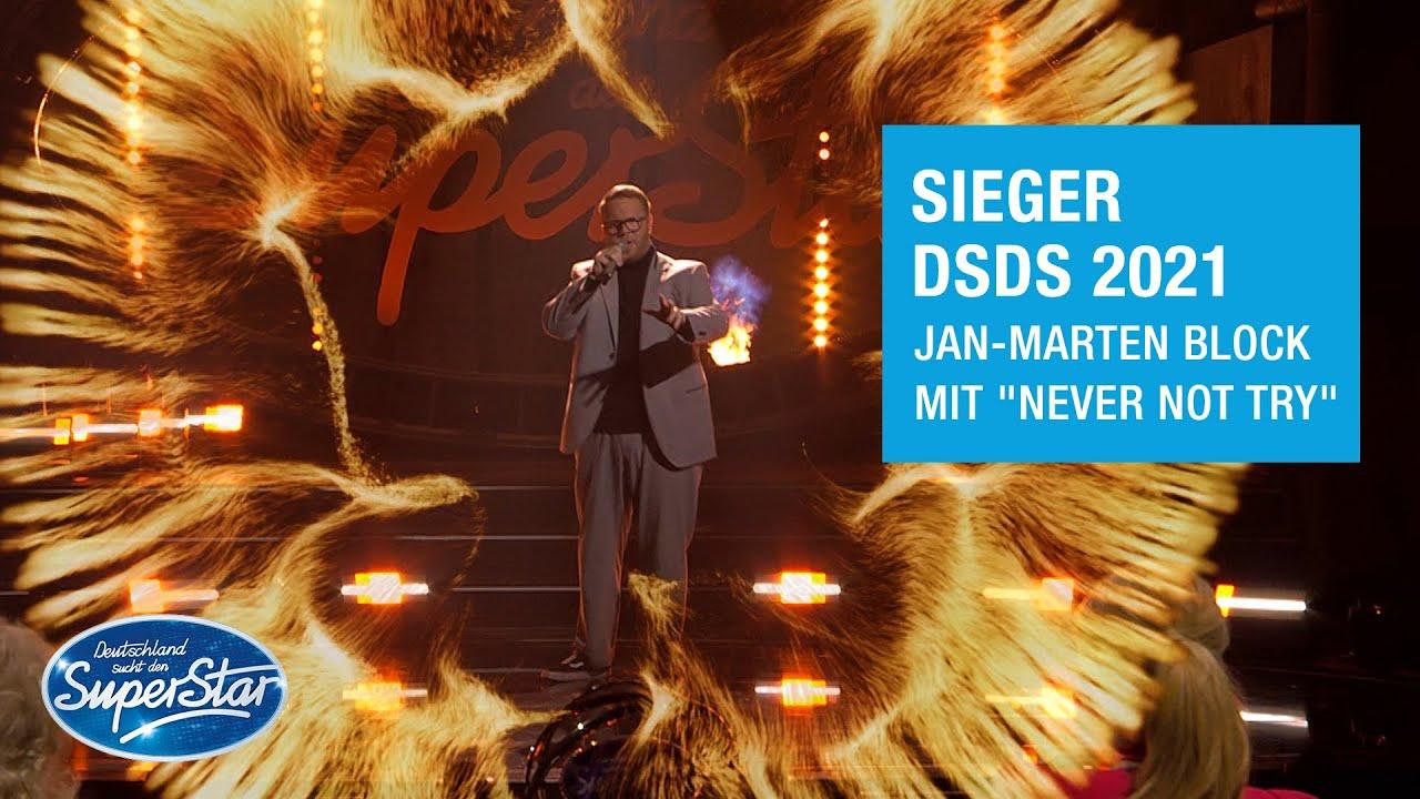"Download Jan-Marten Block mit ""Never Not Try"" | DSDS 2021 Siegersong"