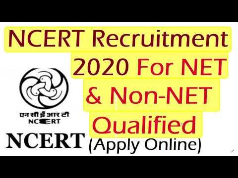 NCERT Delhi Recruitment 2020 For NET & Non NET Qualified, Age 40 Years, Apply online