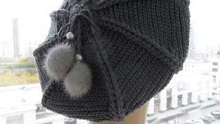 Классический берет крючком часть1 ( knitted beret) (Шапка#7)