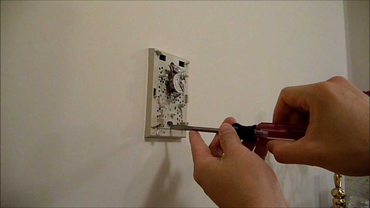 how to replace an analog thermostat with a digital hd youtube rh youtube com old round honeywell thermostat wiring old honeywell thermostat wiring 2 wires