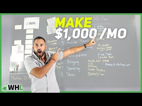 8 Ways To Make $1000 This Month (passive income ideas)