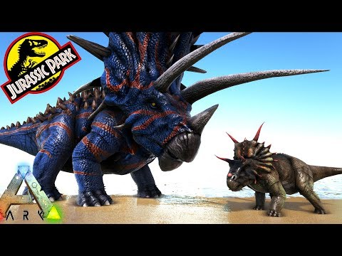 ARK JUGGERNAUT 32 BOSS!! XENOCERATOPS & MORE!! Ark Survival Evolved Jurassic Park Expansion Mod