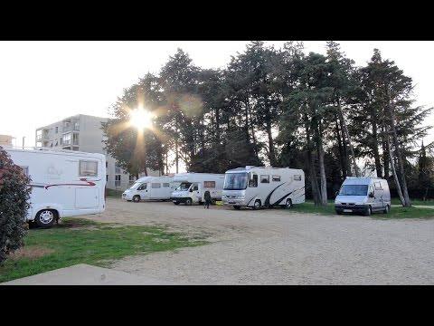 Wohnmobil-Stellplatz Montelimar-Frankreich