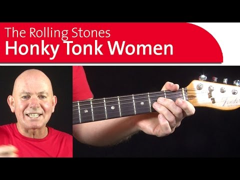 Honky Tonk Women, The Rolling Stones. Guitar lesson, Part 1 teach