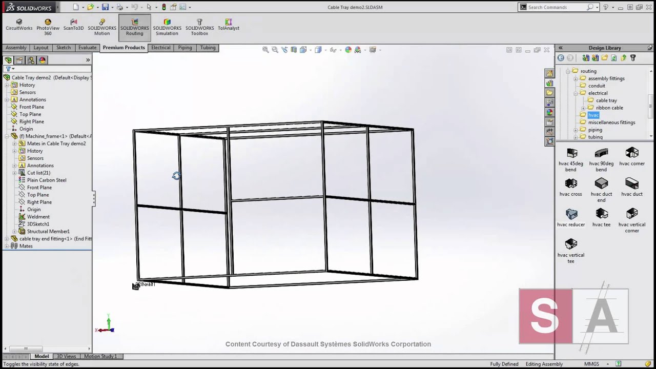 solidworks 2015 routing piping and tubing youtube rh youtube com SolidWorks Pipe Fittings Tubing in SolidWorks