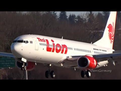 New Thai Lion Air Boeing 737-900ER Finishes Test Flight @ Boeing Field