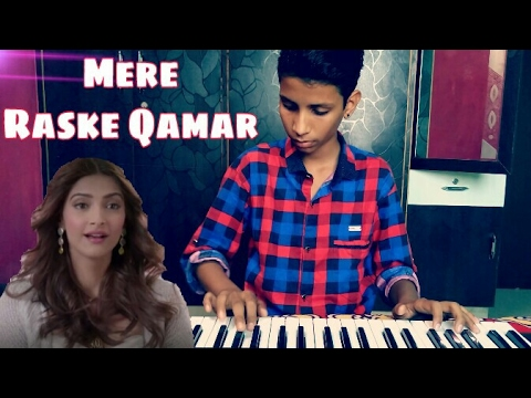 Mere Rashke Qamar | Piano Cover | Instrumental Karaoke Version | Nusrat Fateh Ali Khan | The Kamlesh
