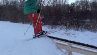 Urban Skiing Pvc Pipe Rail