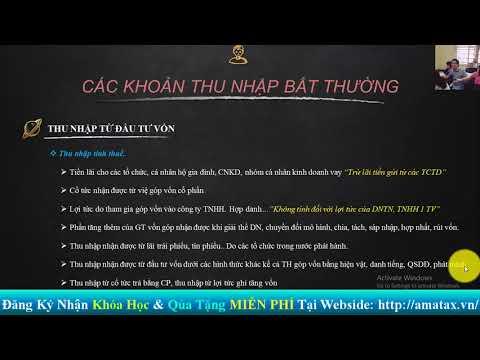 Cách Tính Thuế TNCN [Từ Đầu Tư Vốn]