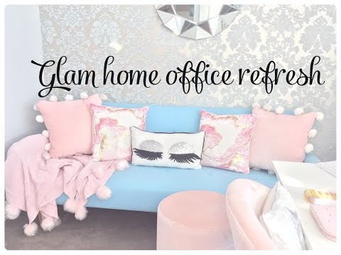 DECORATE WITH ME GLAM HOME OFFICE REFRESH