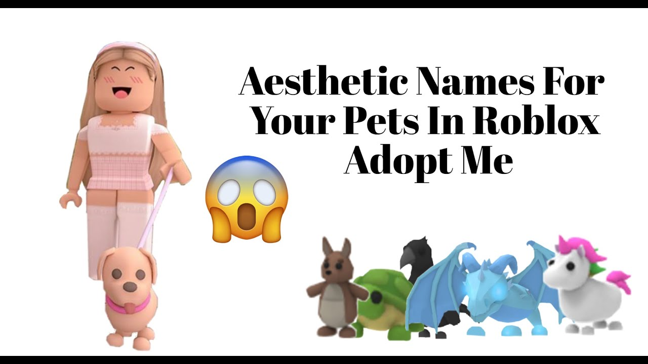 Most Aesthetic Names For Your Pets In Adopt Me Youtube
