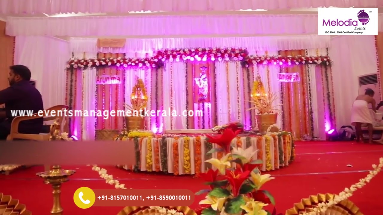 Hindu Wedding Stage Decorations Alappuzha Marriage Hall