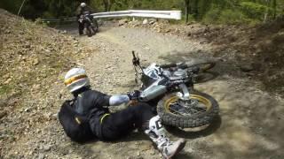 「事故」林道で調子に乗ったゲイボーイ山田とワロスメンに天罰が下った模様(逝った♂)CRF250L SEROW250