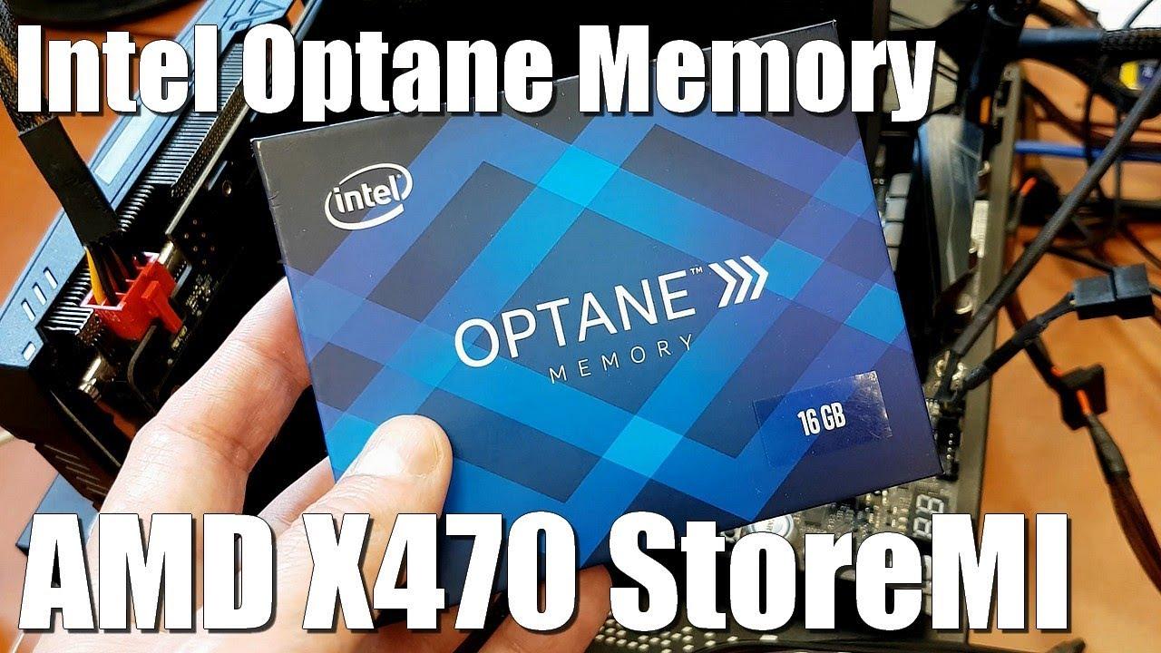Intel Optane Memory on AMD X470 (StoreMI)