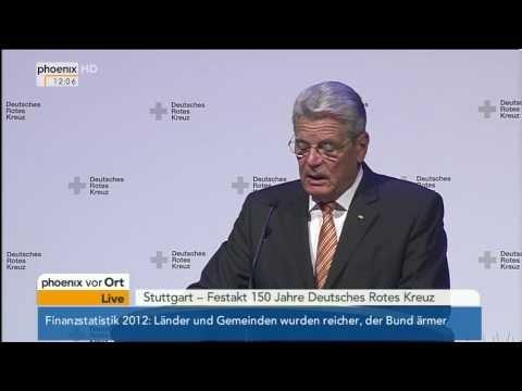 150 Jahre DRK: Rede von Bundespräsident Gauck am 31.10.2013