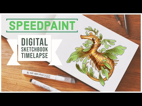 Leafy Sea Dragon 🐉 Digital Art Timelapse Video 🎨 Drawing in Photoshop