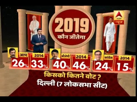 Delhi Opinion Poll: AAP leads the race with 41 seats, know the vote share