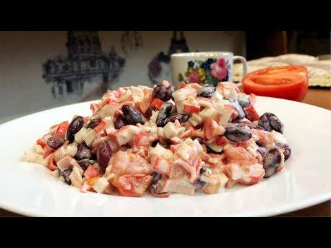 Салат с Крабовыми палочками за 5 Минут  Быстрый Салат за 240 рублей  Просто и Вкусно