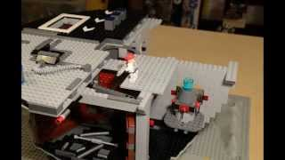 LEGO minifigs building the Death Star